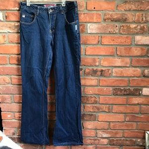 Silver Y2K Flare Boot Wide Cut Vintage Jeans 30/32